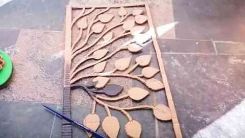 Watch How She Makes Incredible Wall Art With An Exacto Knife, Cardboard And Black Paint!   DIY Joy Projects and Crafts Ideas