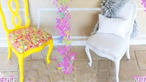 Watch The Incredible Transformation That Happens When She Remodels This Chair! | DIY Joy Projects and Crafts Ideas