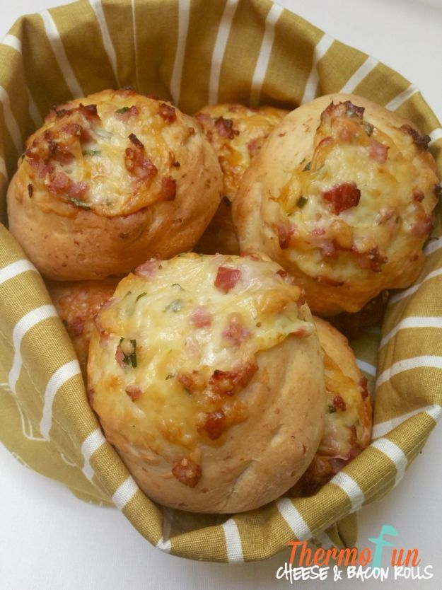 Best Recipes To Teach Your Kids To Cook - Cheese & Bacon Rolls - Easy Ideas To Show Children How to Prepare Food - Kid Friendly Recipes That Boys and Girls Can Make Themselves - No Bake, 5 Minute Foods, Healthy Snacks, Salads, Dips, Roll Ups, Vegetables and Simple Desserts - Recipes To Learn How To Make Fun Food http://diyjoy.com/best-recipes-teach-kids-to-cook