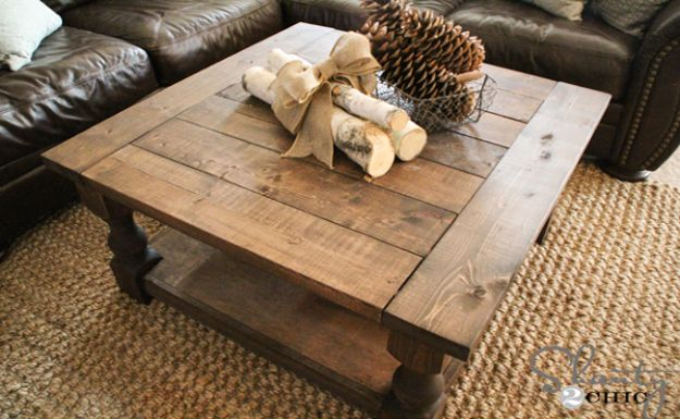 DIY Coffee Tables - Corona Coffee Table - Easy Do It Yourself Furniture Ideas for The Living Room Table - Cool Projects for Making a Coffee Table With Crates, Boxes, Stone, Industrial Pipe, Tile, Pallets, Old Doors, Windows and Repurposed Wood Planks - Rustic Farmhouse Home Decor, Modern Decorating Ideas, Simply Shabby Chic and All White Looks for Minimalist Interiors http://diyjoy.com/diy-coffee-table-ideas