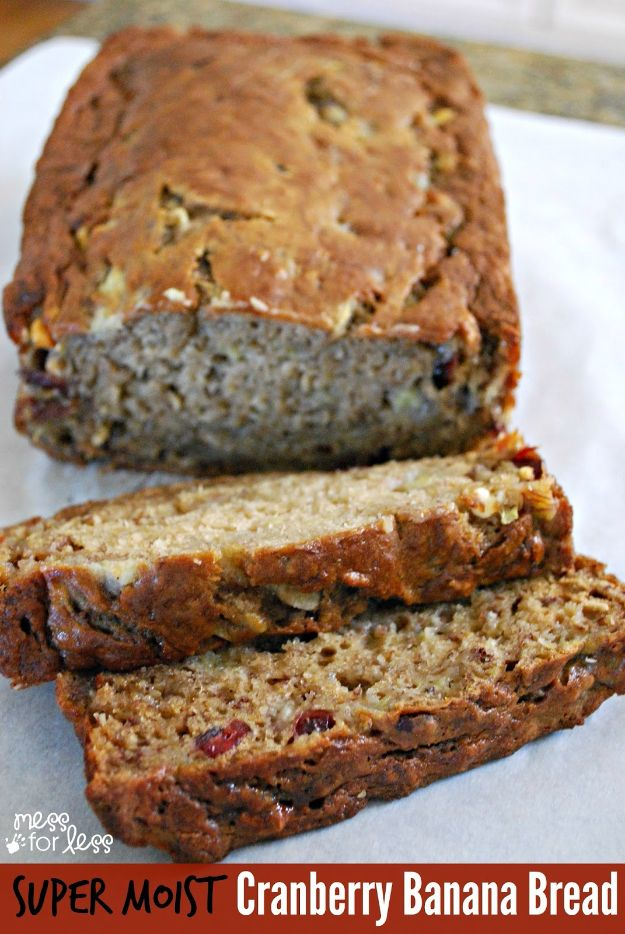 Best Recipes To Teach Your Kids To Cook - Cranberry Banana Bread - Easy Ideas To Show Children How to Prepare Food - Kid Friendly Recipes That Boys and Girls Can Make Themselves - No Bake, 5 Minute Foods, Healthy Snacks, Salads, Dips, Roll Ups, Vegetables and Simple Desserts - Recipes To Learn How To Make Fun Food http://diyjoy.com/best-recipes-teach-kids-to-cook