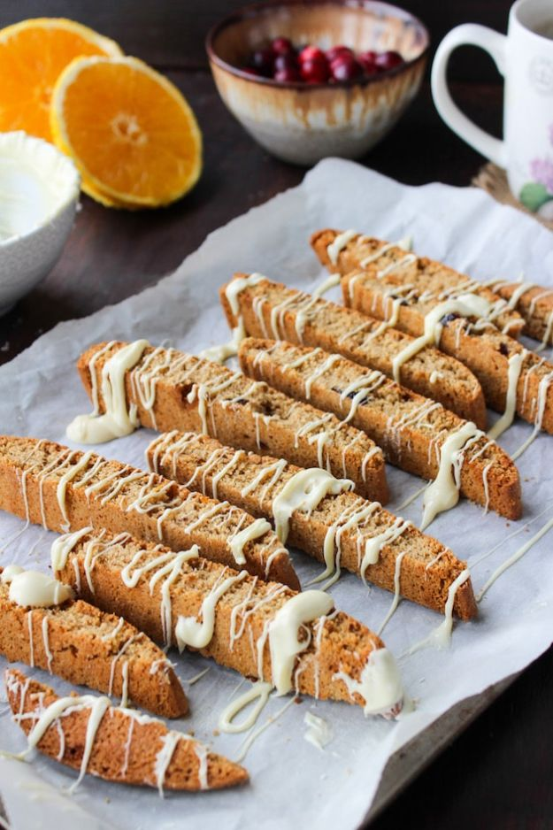 Gluten Free Desserts - Cranberry Orange Biscotti - Easy Recipes and Healthy Recipe Ideas for Cookies, Cake, Pie, Cupcakes, Cheesecake and Ice Cream - Best No Sugar Glutenfree Chocolate, No Bake Dessert, Fruit, Peach, Apple and Banana Dishes - Flourless Christmas, Thanksgiving and Holiday Dishes #glutenfree #desserts #recipes