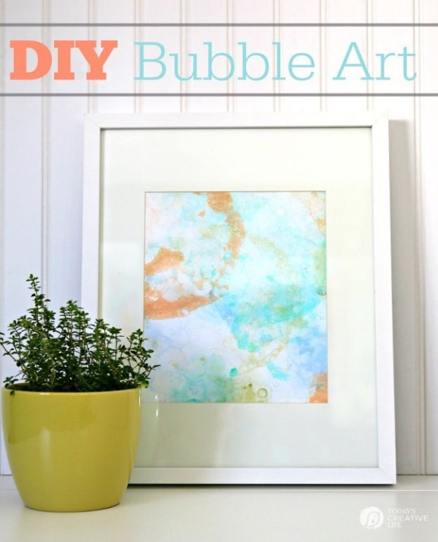 Crafts for Boys - DIY Bubble Art - Cute Crafts for Young Boys, Toddlers and School Children - Fun Paints to Make, Arts and Craft Ideas, Wall Art Projects, Colorful Alphabet and Glue Crafts, String Art, Painting Lessons, Cheap Project Tutorials and Inexpensive Things for Kids to Make at Home - Cute Room Decor and DIY Gifts to Make for Mom and Dad #diyideas #kidscrafts #craftsforboys