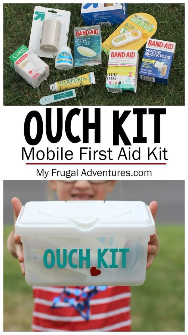 Car Organization Ideas - DIY Car First Aid Kit - DIY Tips and Tricks for Organizing Cars - Dollar Store Storage Projects for Mom, Kids and Teens - Keep Your Car, Truck or SUV Clean On A Road Trip With These solutions for interiors and Trunk, Front Seat - Do It Yourself Caddy and Easy, Cool Lifehacks #car #diycar #organizingideas