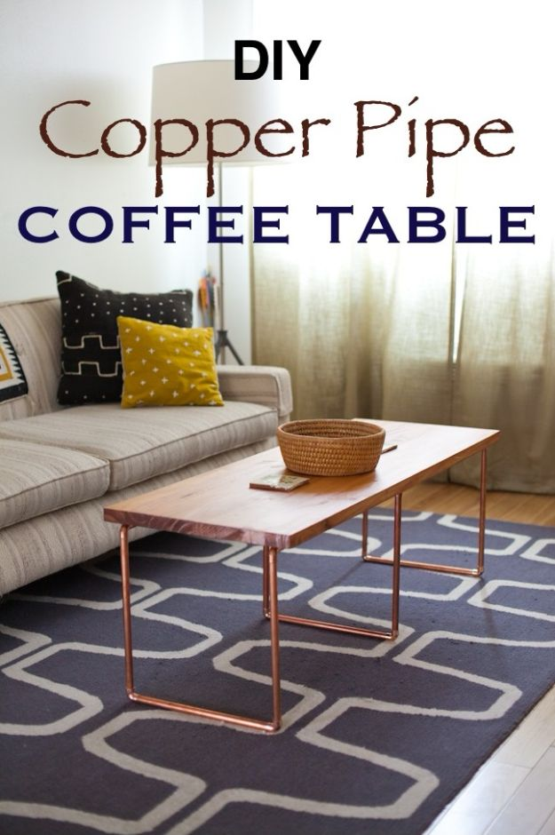 Diy Coffee Tables Copper Pipe Table Easy Do It Yourself Furniture Ideas