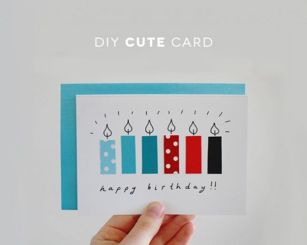 DIY Birthday Cards - DIY Cute Card From Recycled Papers - Easy and Cheap Handmade Birthday Cards To Make At Home - Cute Card Projects With Step by Step Tutorials are Perfect for Birthdays for Mom, Dad, Kids and Adults - Pop Up and Folded Cards, Creative Gift Card Holders and Fun Ideas With Cake http://diyjoy.com/diy-birthday-cards