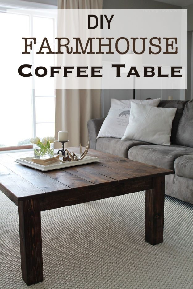 DIY Coffee Tables   DIY Farmhouse Coffee Table   Easy Do It Yourself  Furniture Ideas For