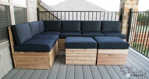 DIY Patio Furniture Ideas - DIY Modular Outdoor Seating - Cheap Do It Yourself Porch and Easy Backyard Furniture, Rocking Chairs, Swings, Benches, Stools and Seating Tutorials - Dining Tables from Pallets, Cinder Blocks and Upcyle Ideas - Sectional Couch Plans With Cushions - Makeover Tips for Existing Furniture #diyideas #outdoors #diy #backyardideas #diyfurniture #patio #diyjoy http://diyjoy.com/diy-patio-furniture-ideas