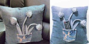 She Recycles Old Jeans By Making These Super Cute Pillows. Learn How!
