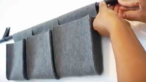 Watch How She Makes These Chic Looking Organizers Out Of Felt. Super Easy! | DIY Joy Projects and Crafts Ideas