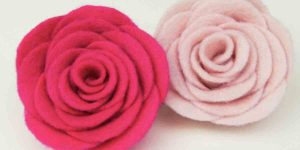 She Made These Fabulous Felt Roses To Wear On Jackets And Hats. Learn How!