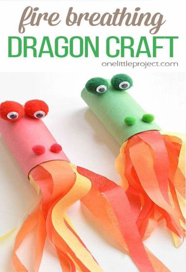 Crafts for Boys - Fire Breathing Dragon Craft - Cute Crafts for Young Boys, Toddlers and School Children - Fun Paints to Make, Arts and Craft Ideas, Wall Art Projects, Colorful Alphabet and Glue Crafts, String Art, Painting Lessons, Cheap Project Tutorials and Inexpensive Things for Kids to Make at Home - Cute Room Decor and DIY Gifts to Make for Mom and Dad #diyideas #kidscrafts #craftsforboys