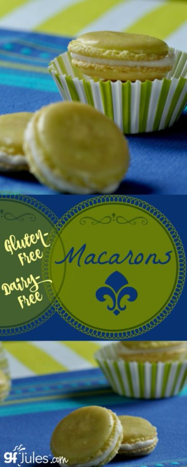 Gluten Free Desserts - Gluten Free French Macarons - Easy Recipes and Healthy Recipe Ideas for Cookies, Cake, Pie, Cupcakes, Cheesecake and Ice Cream - Best No Sugar Glutenfree Chocolate, No Bake Dessert, Fruit, Peach, Apple and Banana Dishes - Flourless Christmas, Thanksgiving and Holiday Dishes #glutenfree #desserts #recipes