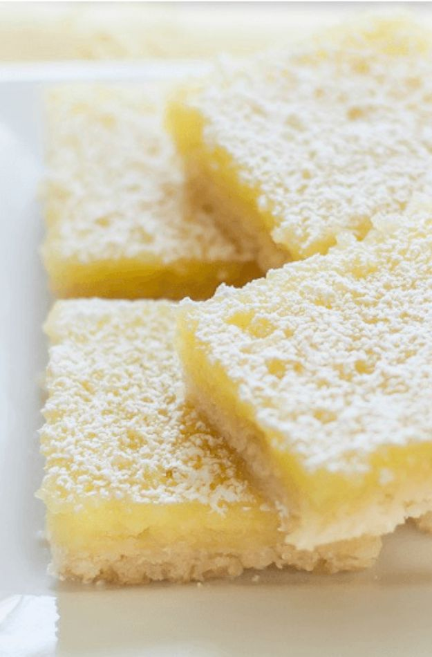 Gluten Free Desserts - Gluten Free Lemon Bars - Easy Recipes and Healthy Recipe Ideas for Cookies, Cake, Pie, Cupcakes, Cheesecake and Ice Cream - Best No Sugar Glutenfree Chocolate, No Bake Dessert, Fruit, Peach, Apple and Banana Dishes - Flourless Christmas, Thanksgiving and Holiday Dishes #glutenfree #desserts #recipes