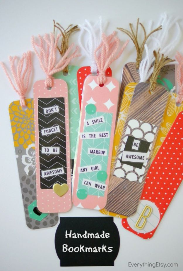 Crafts for Girls - Handmade Bookmarks - Cute Crafts for Young Girls, Toddlers and School Children - Fun Paints to Make, Arts and Craft Ideas, Wall Art Projects, Colorful Alphabet and Glue Crafts, String Art, Painting Lessons, Cheap Project Tutorials and Inexpensive Things for Kids to Make at Home - Cute Room Decor and DIY Gifts #girlsgifts #girlscrafts #craftideas #girls