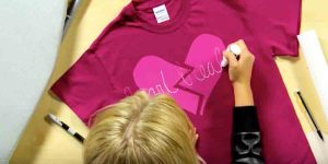 She Easily Decorates This T-Shirt For A Fun Item To Wear On Heart Day Or Any Time!