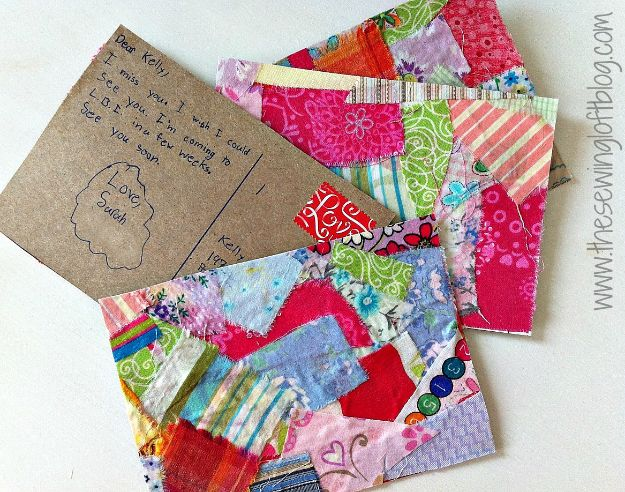 Crafts for Girls - Homemade Postcards - Cute Crafts for Young Girls, Toddlers and School Children - Fun Paints to Make, Arts and Craft Ideas, Wall Art Projects, Colorful Alphabet and Glue Crafts, String Art, Painting Lessons, Cheap Project Tutorials and Inexpensive Things for Kids to Make at Home - Cute Room Decor and DIY Gifts to Make for Mom and Dad http://diyjoy.com/crafts-for-girls