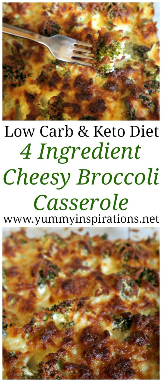Best Keto Recipes to Make for Dinner- Easy Keto Broccoli Casserole for Dinners or Lunches- Simple Ketogenic Recipe Ideas for Breakfast, Lunch, Dinner, Snack and Dessert - Quick Crockpot Meals, Fat Bombs, Gluten Free and Low Carb Foods To Make For The Keto Diet