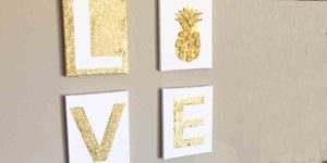 Love Is In The Air With Valentine's Day And On The Wall With This Awesome DIY Project!