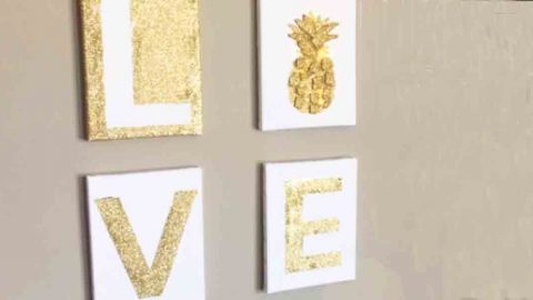 Love Canvas Art Painting Tutorial | DIY Joy Projects and Crafts Ideas
