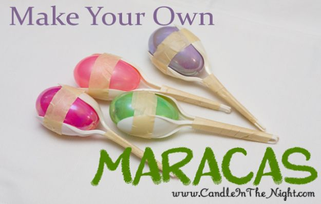 Crafts for Boys - Make Your Own Maracas - Cute Crafts for Young Boys, Toddlers and School Children - Fun Paints to Make, Arts and Craft Ideas, Wall Art Projects, Colorful Alphabet and Glue Crafts, String Art, Painting Lessons, Cheap Project Tutorials and Inexpensive Things for Kids to Make at Home - Cute Room Decor and DIY Gifts to Make for Mom and Dad #diyideas #kidscrafts #craftsforboys