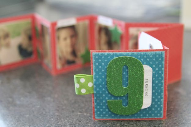 DIY Birthday Cards - Mini Birthday Album In A Box - Easy and Cheap Handmade Birthday Cards To Make At Home - Cute Card Projects With Step by Step Tutorials are Perfect for Birthdays for Mom, Dad, Kids and Adults - Pop Up and Folded Cards, Creative Gift Card Holders and Fun Ideas With Cake #birthdayideas #birthdaycards