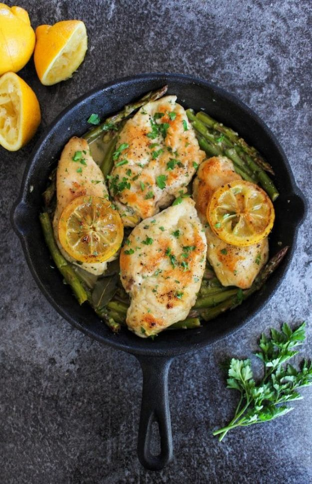Best Keto Recipes - One Pan Lemon Chicken - Easy Ketogenic Recipe Ideas for Breakfast, Lunch, Dinner, Snack and Dessert - Quick Crockpot Meals, Fat Bombs, Gluten Free and Low Carb Foods To Make For The Keto Diet #keto #ketorecipes #ketodiet