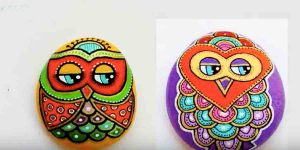 She Shows Us A Super Easy Way To Paint The Beloved Owl On Rocks. Learn How!