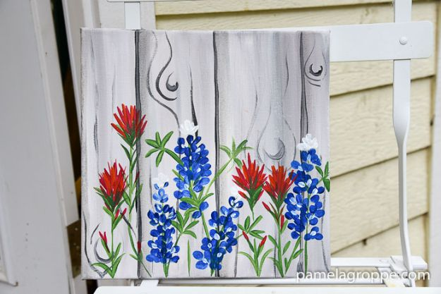 DIY Ideas For Everyone Who Loves Texas - Paint Texas Bluebonnets - Cute Lone Star State Crafts In The Shape of Texas - Best Texan Quotes, Sayings and Signs for Your Porch and Home - Easy Texas Themed Decorating Ideas - Country Crafts, Rustic Home Decor, String Art and Map Projects Shaped Like Texas - Decor for Living Room, Bedroom, Bathroom, Kitchen and Yard http://diyjoy.com/diy-ideas-Texas