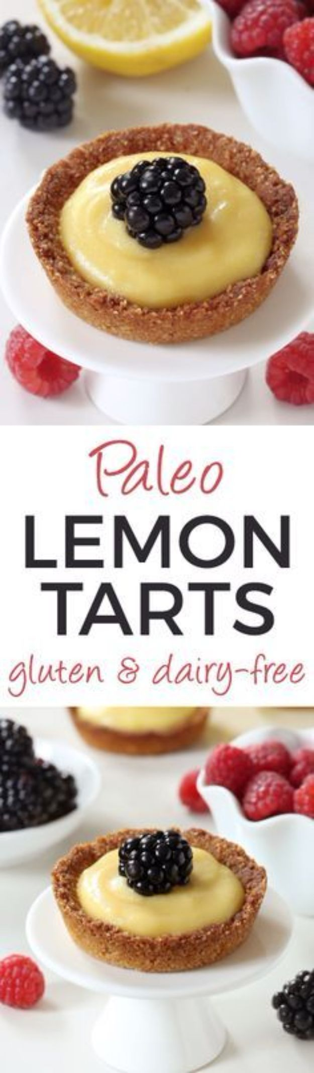 Gluten Free Desserts - Paleo Mini Lemon Tarts - Easy Recipes and Healthy Recipe Ideas for Cookies, Cake, Pie, Cupcakes, Cheesecake and Ice Cream - Best No Sugar Glutenfree Chocolate, No Bake Dessert, Fruit, Peach, Apple and Banana Dishes - Flourless Christmas, Thanksgiving and Holiday Dishes #glutenfree #desserts #recipes