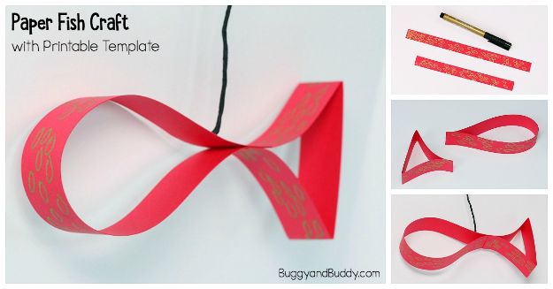 Crafts for Girls - Paper Strip Fish Craft - Cute Crafts for Young Girls, Toddlers and School Children - Fun Paints to Make, Arts and Craft Ideas, Wall Art Projects, Colorful Alphabet and Glue Crafts, String Art, Painting Lessons, Cheap Project Tutorials and Inexpensive Things for Kids to Make at Home - Cute Room Decor and DIY Gifts #girlsgifts #girlscrafts #craftideas #girls
