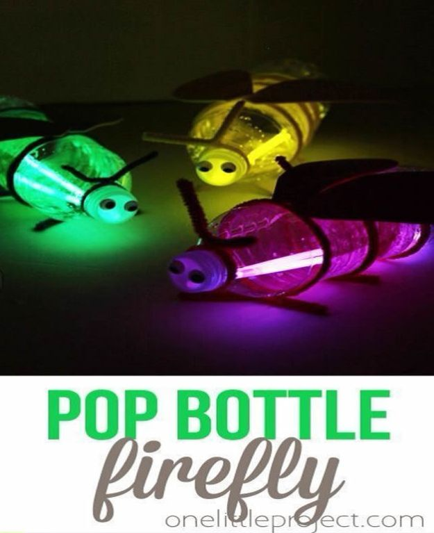 Crafts for Boys - Pop Bottle Firefly - Cute Crafts for Young Boys, Toddlers and School Children - Fun Paints to Make, Arts and Craft Ideas, Wall Art Projects, Colorful Alphabet and Glue Crafts, String Art, Painting Lessons, Cheap Project Tutorials and Inexpensive Things for Kids to Make at Home - Cute Room Decor and DIY Gifts to Make for Mom and Dad #diyideas #kidscrafts #craftsforboys