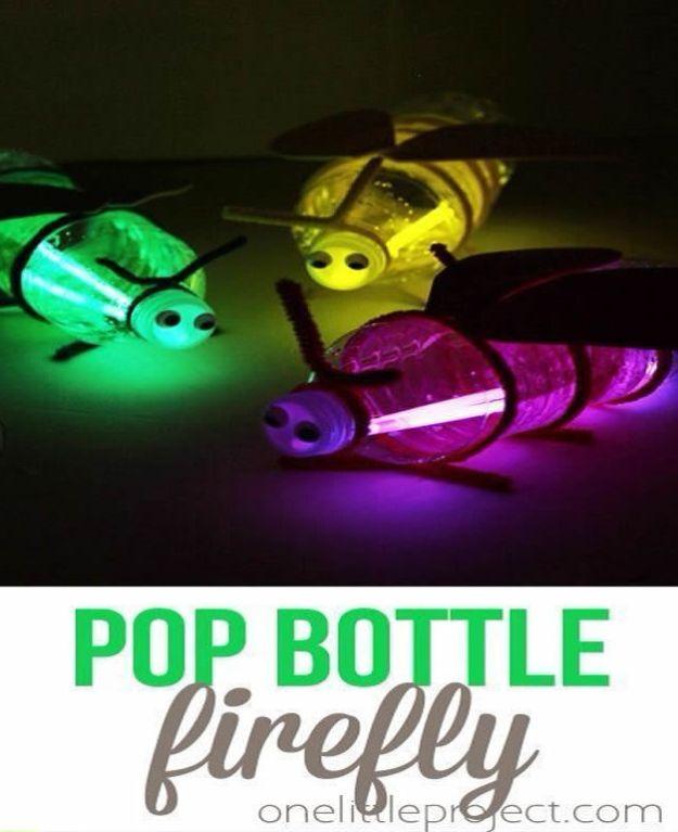 Crafts for Boys - Pop Bottle Firefly - Cute Crafts for Young Boys, les tout-petits et les écoliers - Peintures amusantes à faire, idées de bricolage, projets d'art mural, alphabet coloré et bricolage à la colle, art de la corde, leçons de peinture, Tutoriels de projets bon marché et choses peu coûteuses à faire à la maison pour les enfants - Décoration de chambre mignonne et cadeaux DIY à faire pour maman et papa #diyideas #kidscrafts #craftsforboys