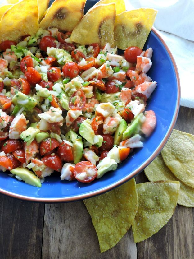 Gluten Free Appetizers - Quick Shrimp Ceviche - Easy Flourless and Glutenfree Snacks, Wraps, Finger Foods and Snack Recipes - Recipe Ideas for Gluten Free Diets - Spinach and Cheese Dips, Vegetable Spreads, Sushi rolls, Quick Grill Foods, Party Trays, Dessert Bites, Healthy Veggie and Fruit Appetizer Tutorials #glutenfree #appetizers #appetizerrecipes #glutenfreerecipes #recipeideas #diyjoy http://diyjoy.com/gluten-free-appetizers