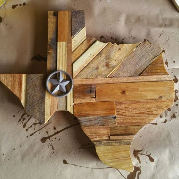 DIY Ideas For Everyone Who Loves Texas - Rustic Texas Wall Hanging - Cute Lone Star State Crafts In The Shape of Texas - Best Texan Quotes, Sayings and Signs for Your Porch and Home - Easy Texas Themed Decorating Ideas - Country Crafts, Rustic Home Decor, String Art and Map Projects Shaped Like Texas - Decor for Living Room, Bedroom, Bathroom, Kitchen and Yard http://diyjoy.com/diy-ideas-Texas