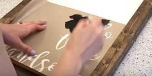 Watch How She Makes A Chunky Farmhouse Sign And Adds Her Finishing Touch!