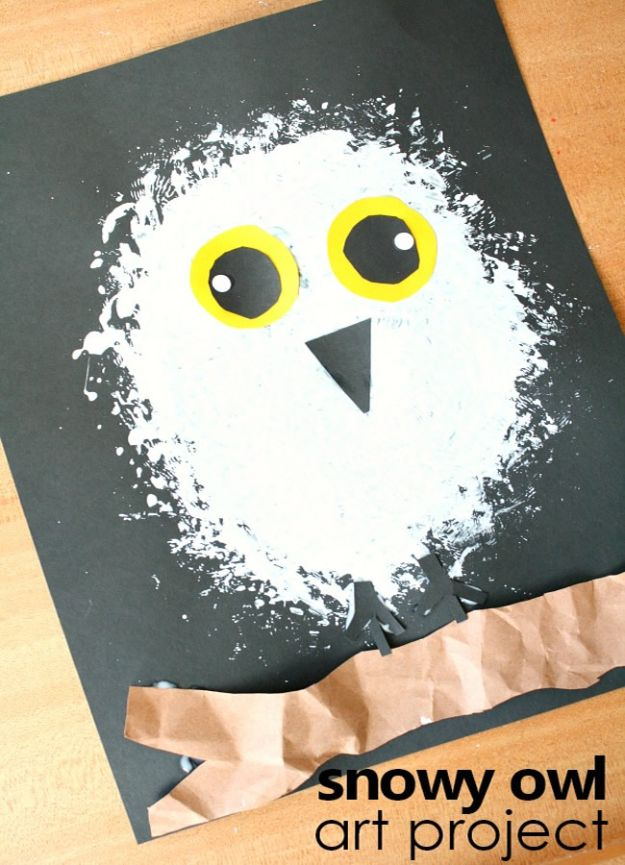 Crafts for Girls - Snowy Owl Craft - Cute Crafts for Young Girls, Toddlers and School Children - Fun Paints to Make, Arts and Craft Ideas, Wall Art Projects, Colorful Alphabet and Glue Crafts, String Art, Painting Lessons, Cheap Project Tutorials and Inexpensive Things for Kids to Make at Home - Cute Room Decor and DIY Gifts to Make for Mom and Dad http://diyjoy.com/crafts-for-girls