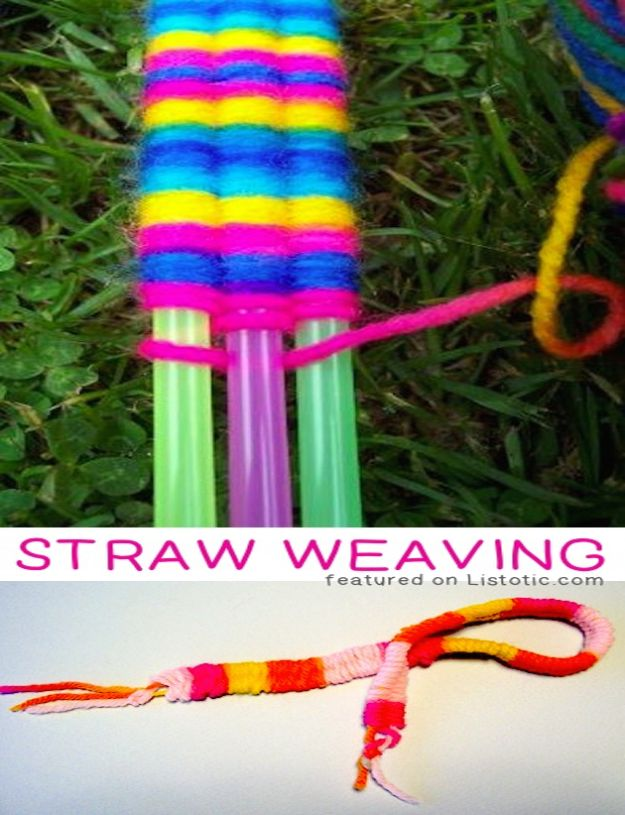 Crafts for Boys - Soda Straw Weaving - Cute Crafts for Young Boys, Toddlers and School Children - Fun Paints to Make, Arts and Craft Ideas, Wall Art Projects, Colorful Alphabet and Glue Crafts, String Art, Painting Lessons, Cheap Project Tutorials and Inexpensive Things for Kids to Make at Home - Cute Room Decor and DIY Gifts to Make for Mom and Dad #diyideas #kidscrafts #craftsforboys