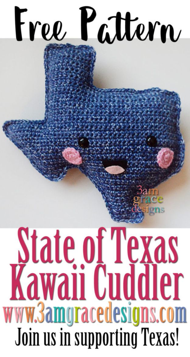 DIY Ideas For Everyone Who Loves Texas - State Of Texas Kawaii Cuddler - Cute Lone Star State Crafts In The Shape of Texas - Best Texan Quotes, Sayings and Signs for Your Porch and Home - Easy Texas Themed Decorating Ideas - Country Crafts, Rustic Home Decor, String Art and Map Projects Shaped Like Texas - Decor for Living Room, Bedroom, Bathroom, Kitchen and Yard http://diyjoy.com/diy-ideas-Texas