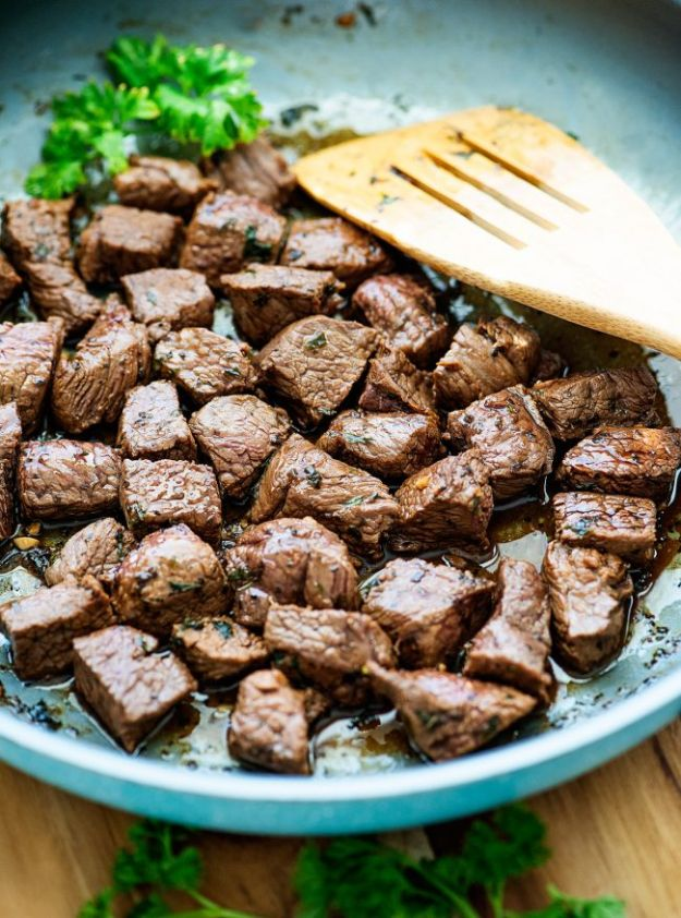 Best Keto Recipes - Steak Bites - Easy Ketogenic Recipe Ideas for Breakfast, Lunch, Dinner, Snack and Dessert - Quick Crockpot Meals, Fat Bombs, Gluten Free and Low Carb Foods To Make For The Keto Diet #keto #ketorecipes #ketodiet
