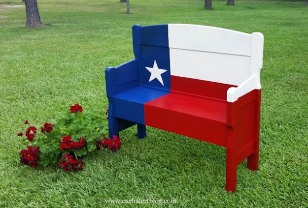 DIY Ideas For Everyone Who Loves Texas - Texas Star Headboard Bench - Cute Lone Star State Crafts In The Shape of Texas - Best Texan Quotes, Sayings and Signs for Your Porch and Home - Easy Texas Themed Decorating Ideas - Country Crafts, Rustic Home Decor, String Art and Map Projects Shaped Like Texas - Decor for Living Room, Bedroom, Bathroom, Kitchen and Yard http://diyjoy.com/diy-ideas-Texas