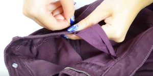 She Has The Perfect Solution For Pants That Have Gotten Too Tight In The Waist. Watch!