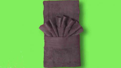 A Special Towel Folding Trick That Adds Style To The Way You Display Your Hand Towel!   DIY Joy Projects and Crafts Ideas