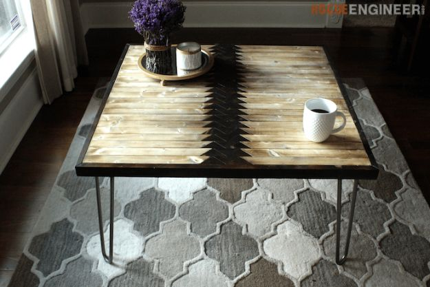 DIY Coffee Tables - Tribal Coffee Table - Easy Do It Yourself Furniture Ideas for The Living Room Table - Cool Projects for Making a Coffee Table With Crates, Boxes, Stone, Industrial Pipe, Tile, Pallets, Old Doors, Windows and Repurposed Wood Planks - Rustic Farmhouse Home Decor, Modern Decorating Ideas, Simply Shabby Chic and All White Looks for Minimalist Interiors http://diyjoy.com/diy-coffee-table-ideas