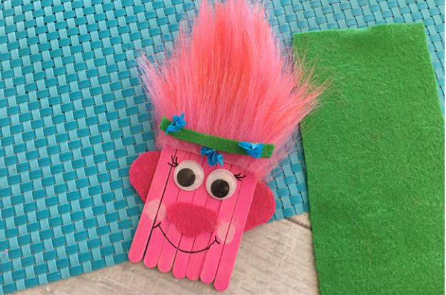 Crafts for Boys - Trolls Poppy Popsicle Stick Craft - Cute Crafts for Young Boys, Toddlers and School Children - Fun Paints to Make, Arts and Craft Ideas, Wall Art Projects, Colorful Alphabet and Glue Crafts, String Art, Painting Lessons, Cheap Project Tutorials and Inexpensive Things for Kids to Make at Home - Cute Room Decor and DIY Gifts to Make for Mom and Dad #diyideas #kidscrafts #craftsforboys