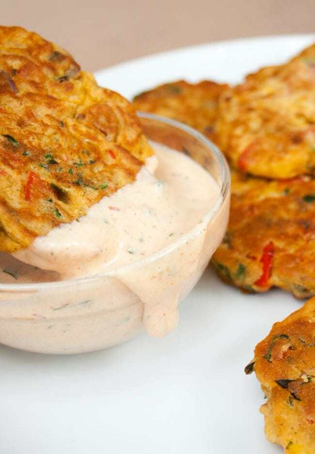 Gluten Free Appetizers - Vegetable Fritters - Easy Flourless and Glutenfree Snacks, Wraps, Finger Foods and Snack Recipes - Recipe Ideas for Gluten Free Diets - Spinach and Cheese Dips, Vegetable Spreads, Sushi rolls, Quick Grill Foods, Party Trays, Dessert Bites, Healthy Veggie and Fruit Appetizer Tutorials #glutenfree #appetizers #appetizerrecipes #glutenfreerecipes #recipeideas #diyjoy http://diyjoy.com/gluten-free-appetizers