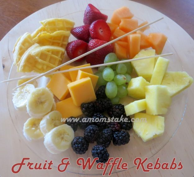 Best Recipes To Teach Your Kids To Cook - Waffle And Fruit Kebabs - Easy Ideas To Show Children How to Prepare Food - Kid Friendly Recipes That Boys and Girls Can Make Themselves - No Bake, 5 Minute Foods, Healthy Snacks, Salads, Dips, Roll Ups, Vegetables and Simple Desserts - Recipes To Learn How To Make Fun Food http://diyjoy.com/best-recipes-teach-kids-to-cook