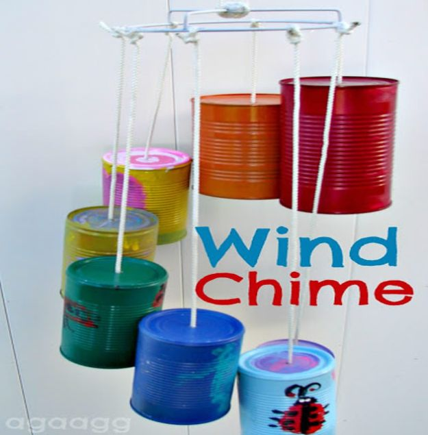 Crafts for Boys - Wind Chime - Cute Crafts for Young Boys, Toddlers and School Children - Fun Paints to Make, Arts and Craft Ideas, Wall Art Projects, Colorful Alphabet and Glue Crafts, String Art, Painting Lessons, Cheap Project Tutorials and Inexpensive Things for Kids to Make at Home - Cute Room Decor and DIY Gifts to Make for Mom and Dad #diyideas #kidscrafts #craftsforboys