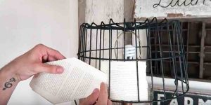 He Creates A Charming Farmhouse Addition With A Wire Basket And A Book. Watch!