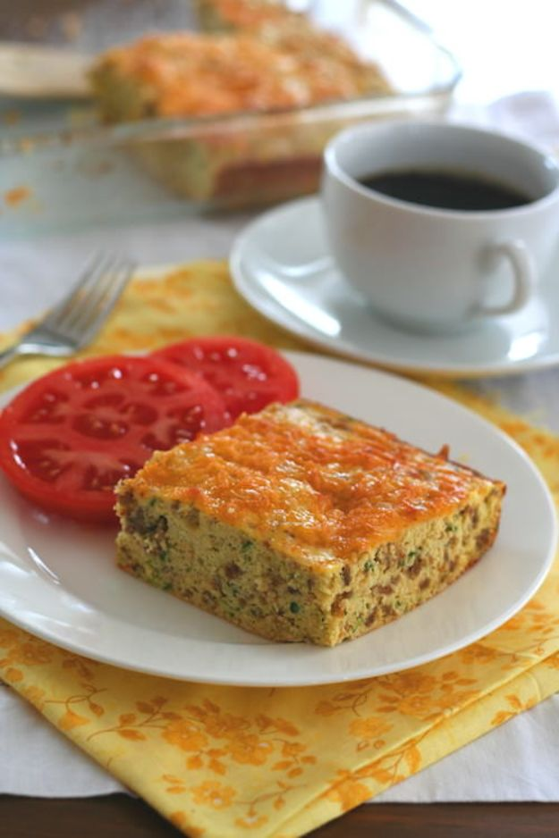 Best Keto Recipes - Zucchini Sausage Breakfast Bake - Easy Ketogenic Recipe Ideas for Breakfast, Lunch, Dinner, Snack and Dessert - Quick Crockpot Meals, Fat Bombs, Gluten Free and Low Carb Foods To Make For The Keto Diet #keto #ketorecipes #ketodiet